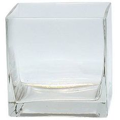 """6-Pack Clear Square Glass Vase - Cube 4 Inch 4"""" X 4"""" X 4"""" - 6pc Six Vases 4x4x4 #ModernVaseGift"""