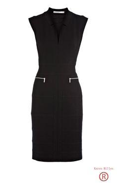 Top Brands Karen Millen Bodycon Jersey Dress Black Outlet 042 Hottest sale this summer.