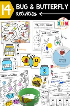 The bug and butterfly set includes work on alphabet letters and sounds, word families, sight words, counting, adding, life cycles and so much more! Perfect for literacy and math centers for pre k, kindergarten and even first graders! Teachers will love the easy prep and the MANY engaging activities for their students. #butterflyactivities #bugactivities #mathcenters #literacycenters Bug Activities, Writing Activities, Butterfly Life Cycle, Sight Word Games, Letter Sounds, Word Families, Alphabet Letters, Literacy Centers, Life Cycles