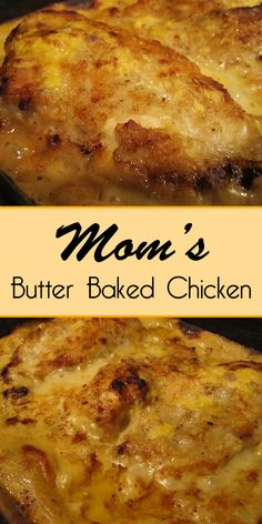 Mom's Butter Baked Chicken - Easy Culinary Concepts dinner recipes with chicken Mom's Butter Baked Chicken - Easy Culinary Concepts Crock Pot Recipes, Soul Food Recipes, Bacon Recipes, Kitchen Recipes, Turkey Recipes, Slow Cooker Recipes, Cookie Recipes, Le Diner, Food Dishes