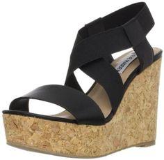 Steve Madden Women's Terorr Wedge Sandal - Price: $55.30 - $79.99 [ Click on Image For Details]