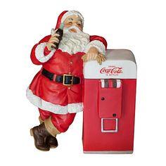 Coca-Cola Sundblom Santa with Vending Machine