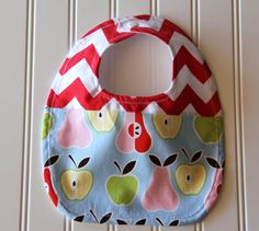 Chevron Fruit Baby Bib Gender Neutral Bib by mylittlemookie, $13.00