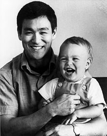 Bruce Lee and son