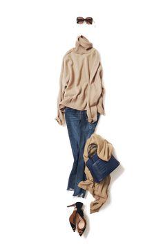 skinny x indigo / PANTS / Kyoko Kikuchi's Closet Over 60 Fashion, Daily Fashion, Everyday Fashion, Tomboy Fashion, Denim Fashion, Fashion Outfits, Style Casual, Casual Street Style, Petite Outfits