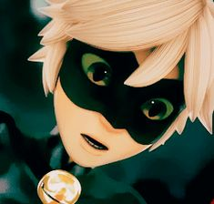 I will pin this forever because it is my favorite gif of Cat Noir!!! He is just so adorable with the eye squint thing!!!!!