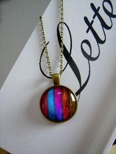 """Medaillonketten - Kette  """"Colours of life"""" - ein Designerstück von Love-design bei DaWanda"""