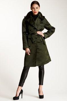 D Silk Blend Trench Coat