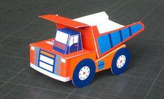 Vrooom Dump Truck Free Paper Toy Download - http://www.papercraftsquare.com/vrooom-dump-truck-free-paper-toy-download.html#DumpTruck, #Truck, #Vrooom