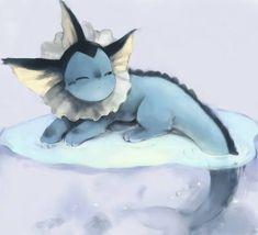 Vaporeon - relaxing - art - water type pokemon - eevee evolution