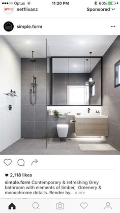 The bathroom is one of the most used rooms in your house. If your bathroom is drab, dingy, and outdated then it may be time for a remodel. Remodeling a bathroom can be an expensive propositi… Bathroom Toilets, Bathroom Renos, Laundry In Bathroom, Bathroom Renovations, Bathroom Storage, Wall Storage, Bathroom Wall, Bathroom Grey, Light Grey Bathrooms