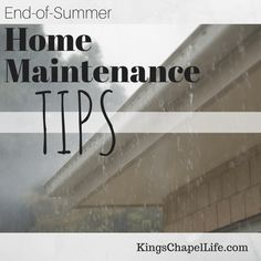 As the end of summer quickly approaches, there are plenty of home projects that need to be done to prepare for cooler temperatures.