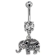 Byzantium Elephant Belly Button Ring More - jewelry, unusual, geometric, etsy, ring, simple jewellery *ad