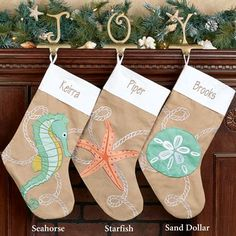 Christmas Ashore Coastal Stockings