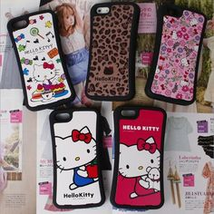 Authentic Hello Kitty Solid Jelly Case iPhone 5 Case iPhone 5S Case 5 types #HelloKitty
