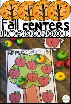 "Are you looking for amazing ""hands on"" ""fall activities for preschool""?  Then you will love Fall Math and Literacy Centers for Preschool!  #fallactivitiespreschool, #handsonideaspreschool, #preschoolcentersforfall, #fallideasforprek, #autumnactivitiesforpreschool"