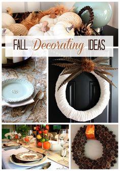 Fun fall decorating ideas @Justa Girl
