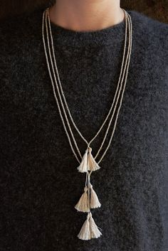 Beads + Tassels Necklaces   Purl Soho