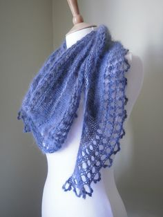 Azzus Shawl designed by Emma Fassio knit by Mac Gregor...starting this today pattern things-to-do-with-yarn