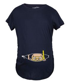 Look at this Navy Peeking Diver Baby Maternity Tee on #zulily today!