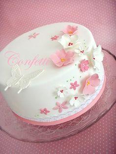 50th Birthday Cake For Women, 14th Birthday Cakes, Fairy Birthday Cake, Birthday Cake With Photo, Pretty Birthday Cakes, Adult Birthday Cakes, Cake Decorating Amazing, Cake Decorating Frosting, Bird Cakes