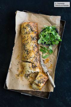 Strudel de pollo y champiñones: receta para una cena redonda Tapas, I Love Food, Good Food, Yummy Food, Artisan Food, Cooking Recipes, Healthy Recipes, Strudel, Food Inspiration