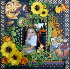 The October Cotillion Kit from Scraputante is just so versatil as Amelia shows us on this layout