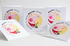 invitation for birthday party, peppa pig, handmade