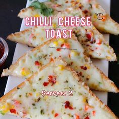 Tasty Vegetarian Recipes, Spicy Recipes, Indian Food Recipes, Cooking Recipes, Kitchenaid Pink, Chilli Cheese Toast, Tastemade Recipes, Food Garnishes, Yummy Snacks