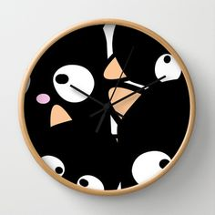 Cat as Pacman Wall Clock by Tika Calderon - $30.00