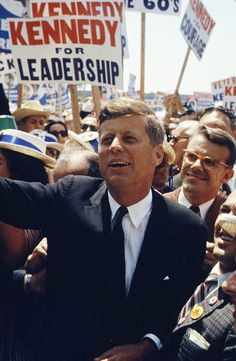 Jack Kennedy photographed by Hank Walker on the campaign trail, 1960.