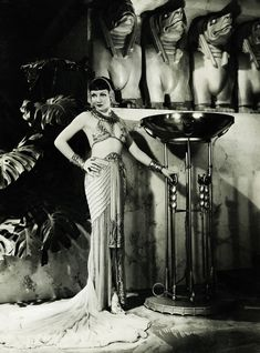 "Claudette Colbert in ""Cleopatra"" 1934 (Cleopatra was done in 1934*) (Maybe add that in book...)"