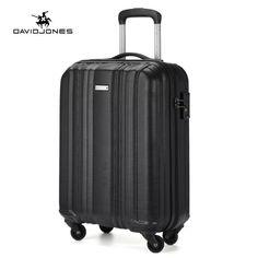 DAVIDJONES carry-on luggage Hardside spinner suitcase