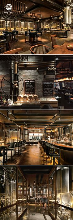 Midtown Brewery - The gastropub with live music, tasteful food and specialty craft beers that are brewed in-house with a local twist Address: Midtown Shangri-La, 6 Changshou Road, Hangzhou Tel: 0571 8159 0433 Pub Design, Brewery Design, Coffee Shop Design, Lounge Design, Bar Lounge, Hangzhou, Restaurant Brasserie, Backyard Pool Designs, Brew Pub