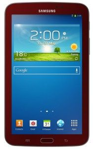 Garnet Red Samsung Galaxy Tab 3 -  http://yoursamsunggalaxy.com/red-samsung-galaxy-tab-3/ #red #samsunggalaxy #samsung #tablet