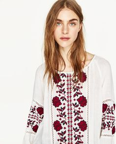EMBROIDERED TOP-Blouses-TOPS-WOMAN   ZARA United States