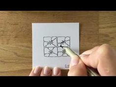 Zentangle® Pattern: Florez - YouTube