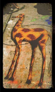 Giraffe Chalk Art by gregmeyer, via Flickr