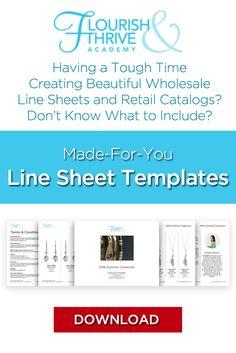 Wholesale line sheet template Line Sheet template product brochure ...
