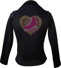 Kami-So Polartec Ice Skating Jacket - Love Skate Multi Yellow | This beatiful figure skating jacket is made from Polartec Fabric #figureskating #figureskatingstore #figureskates #skating #skater #figureskater #iceskating #iceskater #icedance #ice #skates #pants #iceskates #skatingapparel #skatingjacket #kamiso #figureskatingjacket