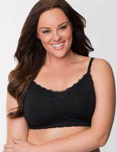 Plus size No wire seamless sleep bra   Lane Bryant