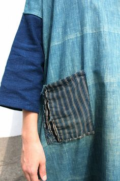 Japanese boro indigo cotton patchwork by SASAKIYOHINTEN on Etsy