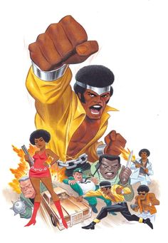 "variant cover by Bruce Timm "" Luke Cage by Bruce Timm Comic Book Artists, Comic Book Characters, Marvel Characters, Comic Artist, Comic Character, Comic Books Art, Fictional Characters, Marvel Comics, Hq Marvel"