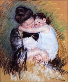 Mother and Child - Mary Cassatt, c.1900