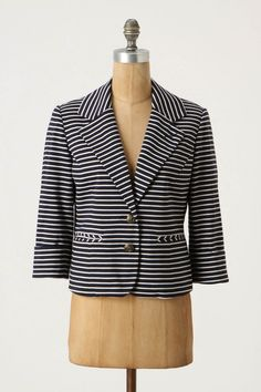 En Route Blazer by Cartonnier Blazer Jacket, Winter Outfits, Summer Outfits, Vogue, Striped Blazer, Fashion Deals, Spring Looks, Dress Me Up