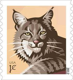Bobcat Featured on U.S. Postage Stamp 2012