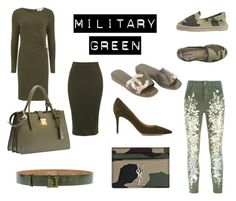 """Military green"" by camilla-sjoeberg on Polyvore featuring Manebí, Chanel, MICHAEL Michael Kors, Gianvito Rossi, Topshop, LIU•JO, Amen., Miu Miu and Yves Saint Laurent"