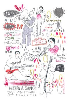 Start a Band // music print A4 by PinkPaperCircus on Etsy, £20.00