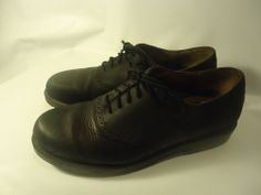 Dockers Men's Saddle Shoes Black Brushed Leather Oxfords Dress/Casual 11 M -NICE
