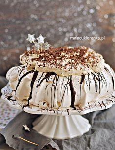 Idealna Beza PAVLOVA z Czekoladą i Likierem – Mała Cukierenka Pavlova, Keto Cake, Meringue, Vanilla Cake, Baked Goods, Sweet Recipes, Food And Drink, Sweets, Cooking